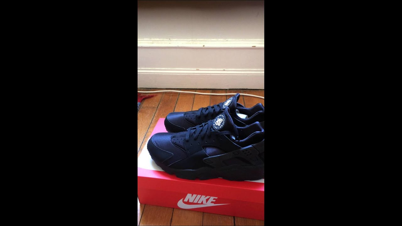 finest selection d4ac0 93632 Déballage Nike air huarache noir black