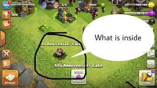 Clash of clans 5th Anniversary Cake | Clash of clans update