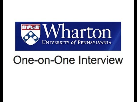 Wharton One-on-One Interview