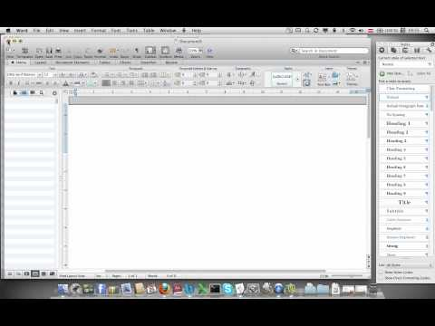 Tutorial: How to Setup Academic Doc with Microsoft Word using Applescript