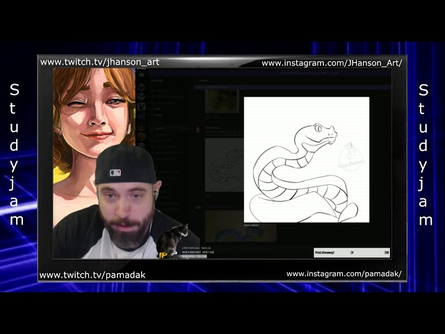 Feedback on metalharpeys snek studyjam session JHanson_art and PamadaK