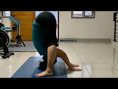 from high lunge to wide legged forward fold  youtube