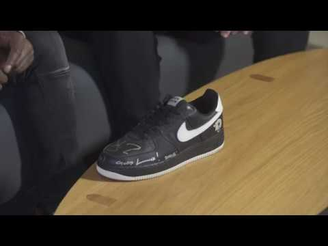 reputable site df417 8d8c0 The Vault - Nike Air Force 1 - BLACK ALBUM Signed by Jay Z
