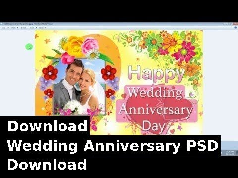 Wedding Anniversary Greeting Card PSD+Download Link