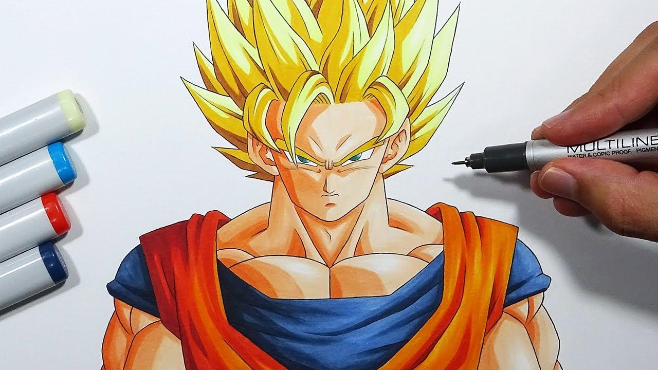 How To Draw Goku Super Saiyan 2 Step By Step Tutorial