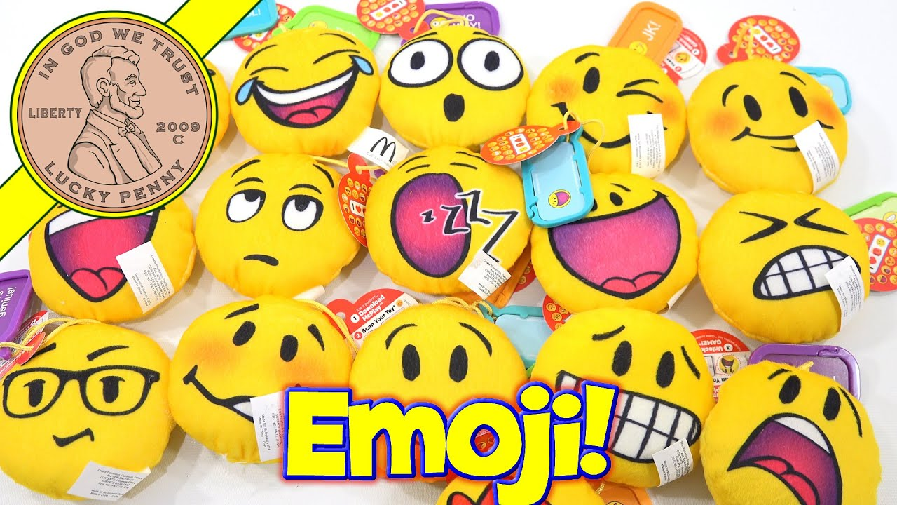 Emoji plush mcdonald 39 s 2016 happy meal kids toys youtube for Happy playsets