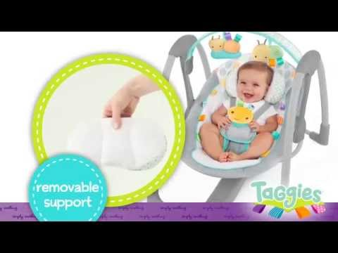 Taggies Leafscape Portable Swing Youtube