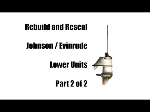 Johnson Evinrude 6 Hp or 9.5 Hp Gearcase Reseal
