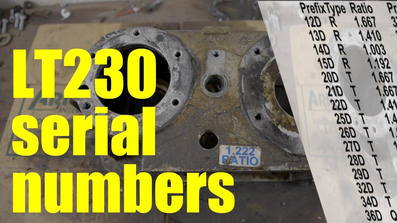 lt230 transfer case serial number