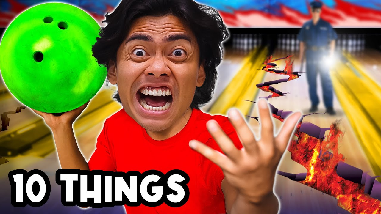 10 Things Not To Do BOWLING ALLEY!