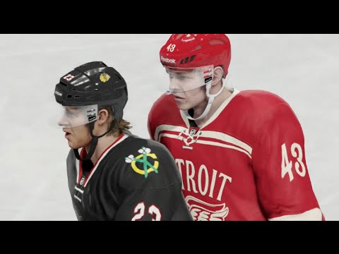 NHL 15 Gameplay (Xbox One): Blackhawks vs Red Wings Full Game (Broadcast Cam)