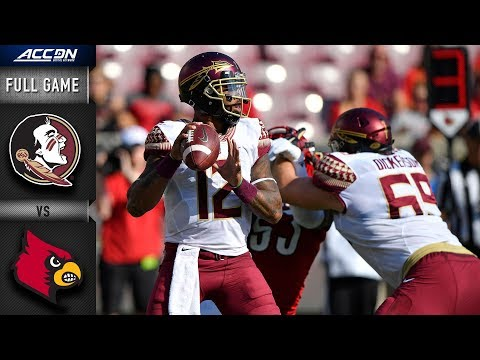 Florida State Vs Louisville Full Game   2018 ACC Football