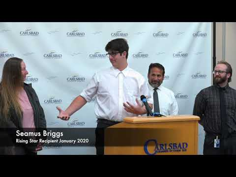 January 2020 Rising Star: Seamus Briggs - Carlsbad Village Academy
