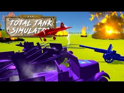 HUGE AA VS FIGHTER + BOMBER PLANE BATTLES! David vs Goliath! - Total Tank Simulator Sandbox Gameplay