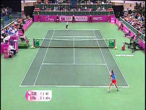 Fed Cup Highlights: Petra Kvitova v Francesca Schiavone