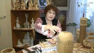 Техника плетения из  оберток початков кукурузы