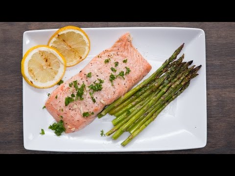 Grilled Citrus Salmon And Asparagus