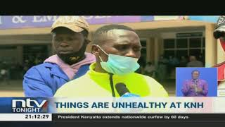 KNH workers down their tools demanding payment