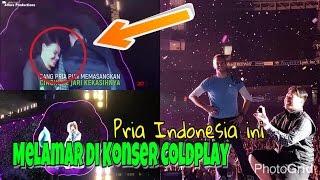 Wow Pria Indonesia Ini Melamar Kekasih Nya Di Konser Coldplay Di Australia