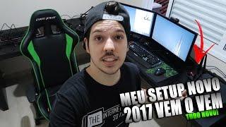MEU SETUP GAMER 2017 - PQ MANEIRÃO DE VERDADE É SER GAMER!😀😁