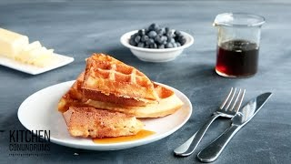 How to Make Crispy-Fluffy Waffles - Kitchen Conundrums with Thomas Joseph(, 2015-07-25T13:00:04.000Z)
