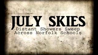 July Skies - Distant Showers Sweep Across Norfolk Schools