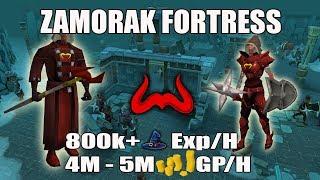[Runescape 3] Zamorak Fortress AFK Combat Guide   800k+ Magic EXP/H, 4M+ GP/H
