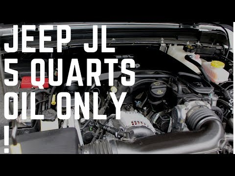 Warning Urgent message overfilling oil capacity to Jeep owners of JL and JK model Wranglers