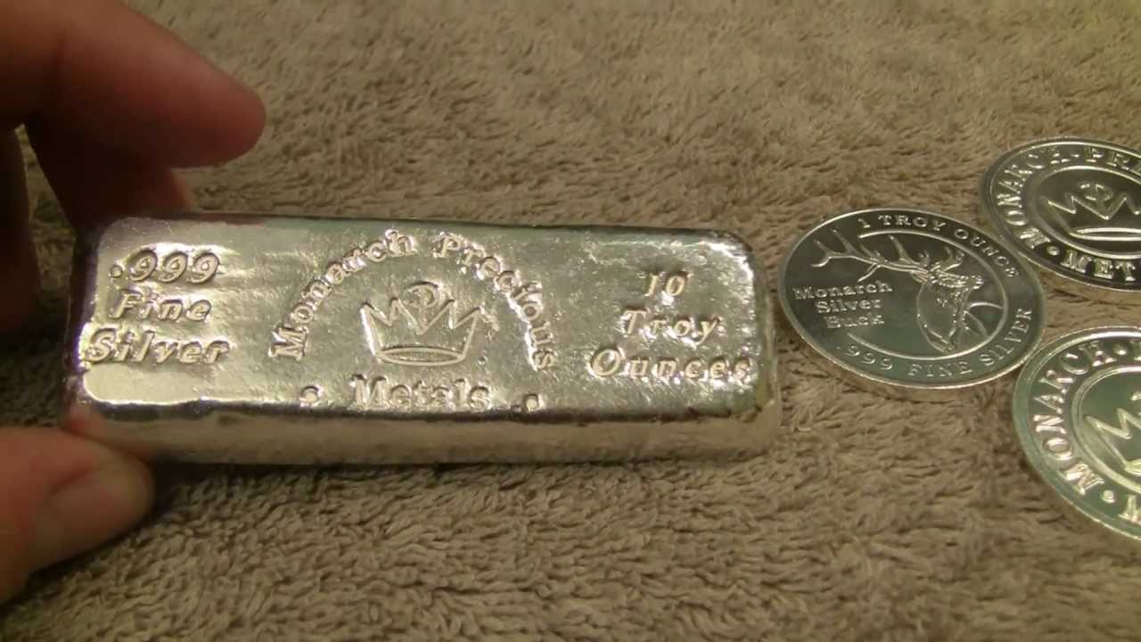 Silver Unboxing Poured Bar And Rounds From Monarch Youtube