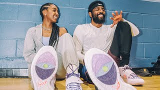 Kyrie & Asia Irving reveal the Kyrie 6 'Asia' purple & black colorways honoring Gender equality.
