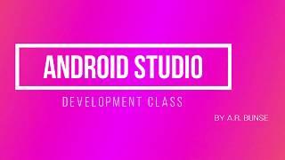 Android Studio Uygulama Geliştirme kursu Tutoril#1 | Uygulama| Acemi eğitimi| A. R. Bunse Oluşturun