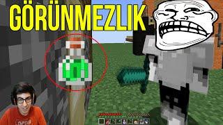 GÖRÜNMEZ OLUP TROLLEDİM | Minecraft Gökyüzü Macerası #18