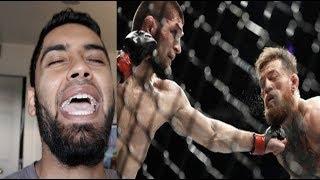 CONOR MCGREGOR vs KHABIB NURMAGOMEDO FULL FIGHT REACTION! KHABIB WINS - CRAZY POST FIGHT BRAWL!!!