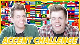 BRITISH TWINS ACCENT CHALLENGE | NikiNSammy