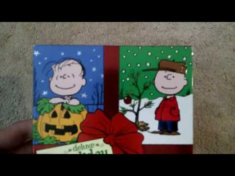Peanuts Deluxe Holiday Collection 2011 DVD Unboxing