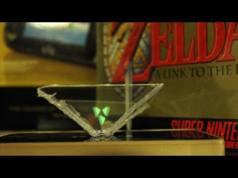 3D Hologram with a Smartphone - Legend of Zelda Triforce!