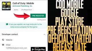 Official Pre Registration of Call Of Duty Legends of War is Out | Release Date 2019
