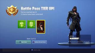 ALL TIERS IN FORTNITE SEASON 8 BATTLE PASS