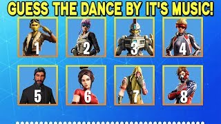 GUESS The Fortnite Dance By It's MUSIC! *FORTNITE CHALLENGE*