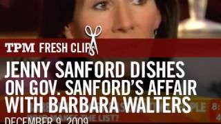 Jenny Sanford Dishes on Gov. Sanford's Affair with Barbara Walters