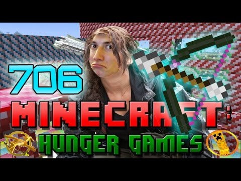 Minecraft: ENCHANTED OP POWER BOW! Hunger Games w/Bajan Canadian! Game 706