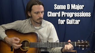 some d major chord progressions for guitar