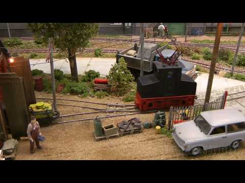 Industrial railroad of a former paper factory in East Germany - French model railroad diorama
