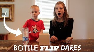 BOTTLE FLIP DARE CHALLENGE! | Match Up
