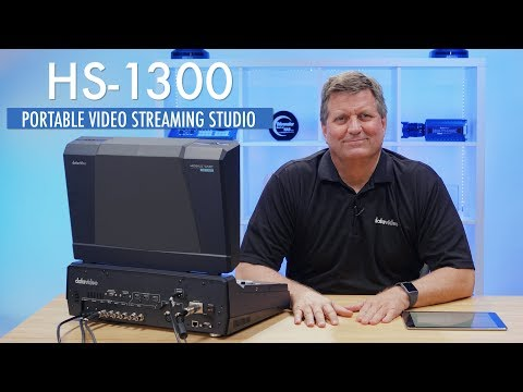 New in 2018  Datavideo HS1300 Live Video Streaming Studio Switcher