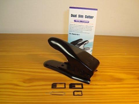 SIM Card Cutter dual 2 in 1, Sim to microSim,microSim to nanoSim. Grapadora tarjeta Sim (AliExpress)