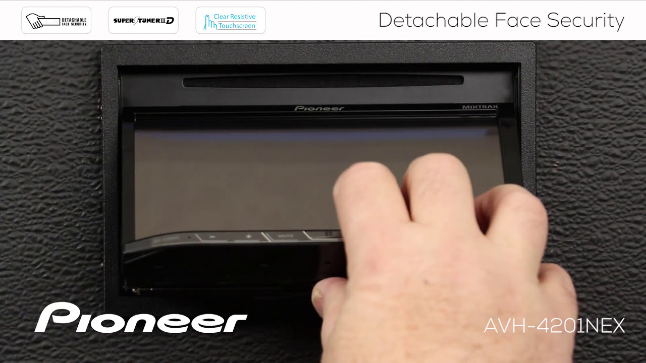 how to detachable face security on pioneer nex receivers 2017 [ 1280 x 720 Pixel ]
