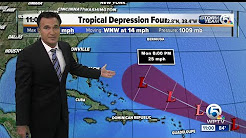 Tropical Depression 4 forms in the Atlantic