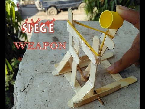 How To Make A Mini Catapult - Medieval Siege Weapon Toy