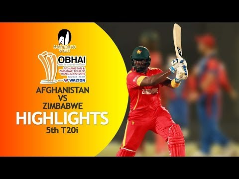 Highlights | Afghanistan vs Zimbabwe | 5th T20 | Bangladesh Tri-Series 2019